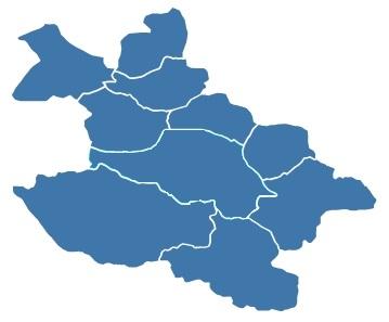 Mapa obszaru działalności  MZWiK
